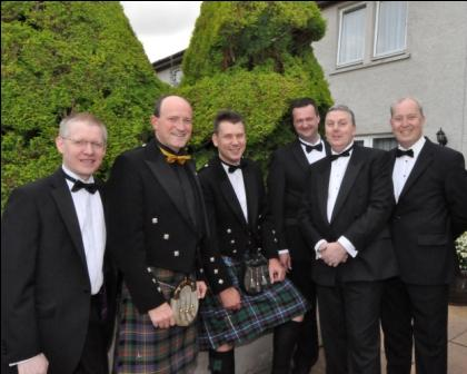 Picture copyright Mary Hemworth - Left to Right:  Fraser Peterkin (GM Ramada Inverness), David Cochrane (HIT Scotland CE), Craig Ewan (GM of Kingsmills Hotel), Daniel Lawrence (GM Columba Hotel) Murray McFee (M Golf View Hotel, Nairn) and Steven Davies (GM Culloden House Hotel)