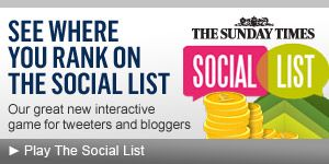 Social List Advert from Sunday Times
