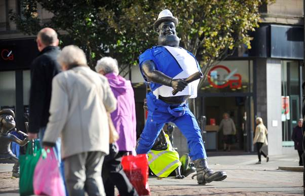 A PR Stunt for Desperate Dan Wows Passers By in Dundee
